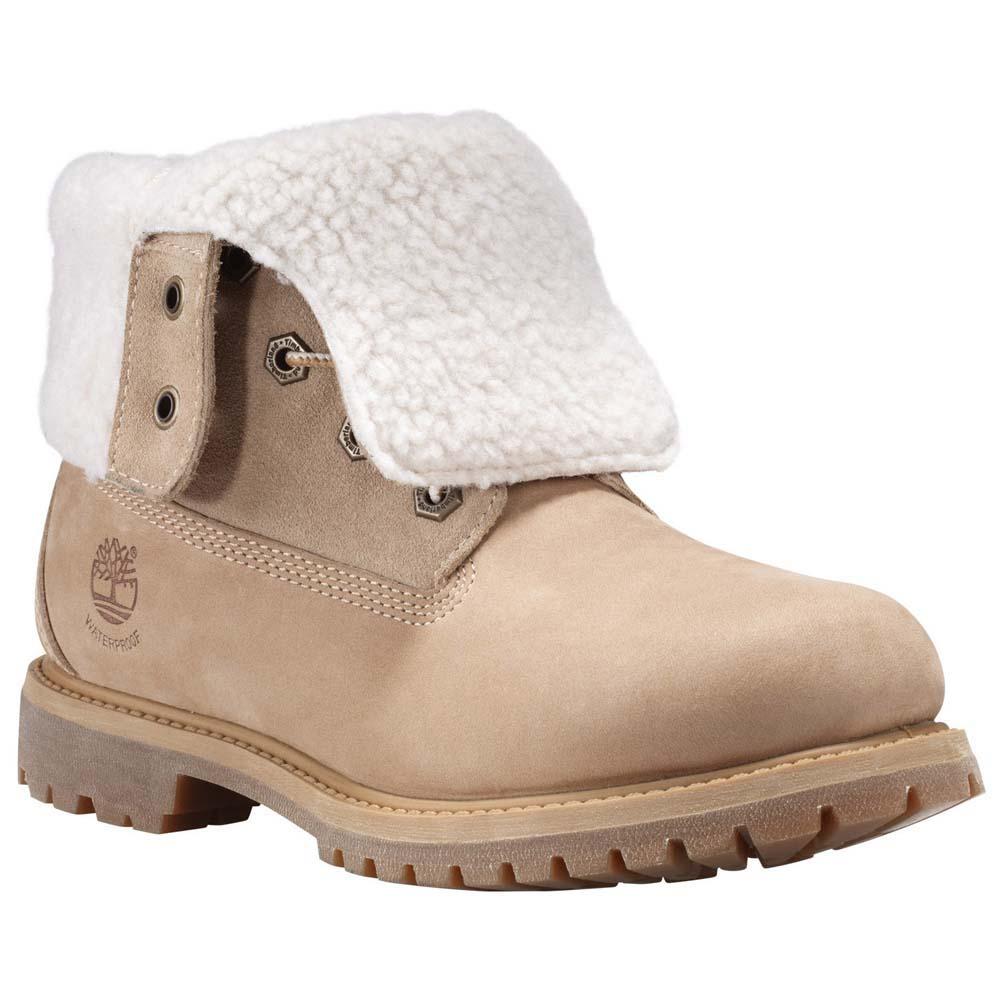 3221718716c Timberland Authentics Teddy Fleece Waterproof Fold Down Wide Brown, Dressinn