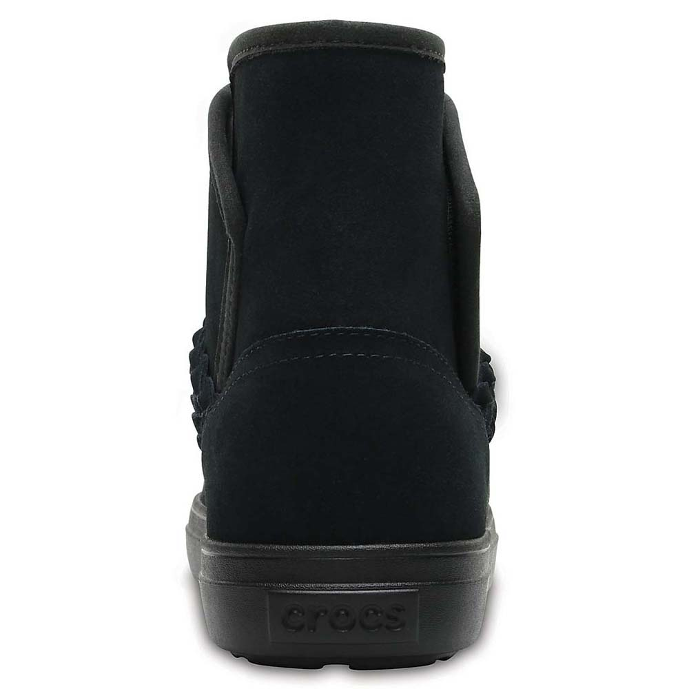 393e39a55504 Crocs lodgepoint suede bootie black buy and offers on dressinn jpg  1000x1000 Crocs suede boot