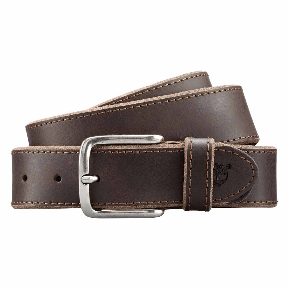 4a079bc3b6f Timberland Basic Rugged Leather Belt Grey, Dressinn