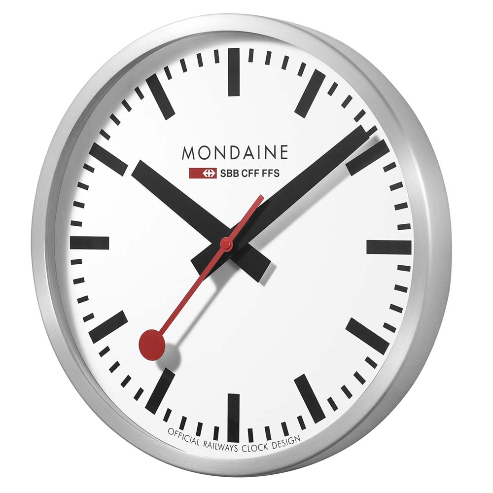 Mondaine wall clock 28 images mondaine white frame wall clock a990clock11sbc mondaine - Mondaine wall clocks ...