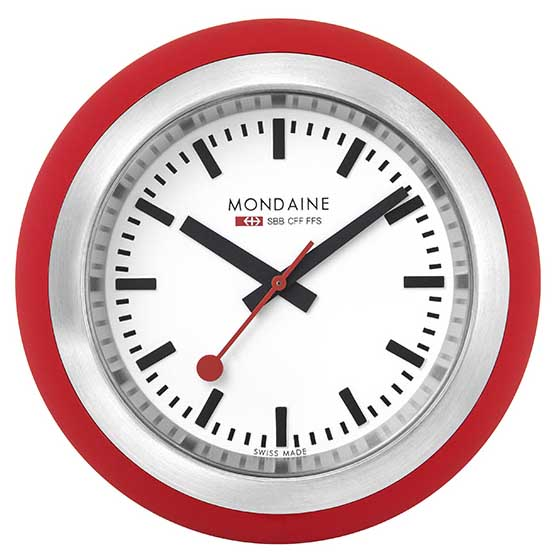 Mondaine Desk Clock Globe Red buy and