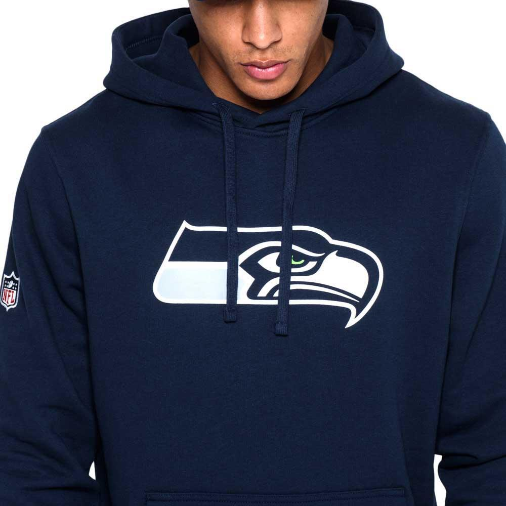 new era seattle seahawks pullover team logo hoodie buy and. Black Bedroom Furniture Sets. Home Design Ideas