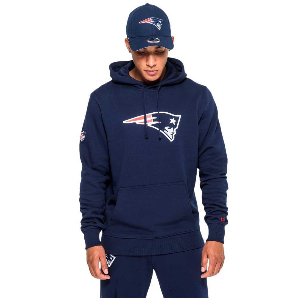 New era New England Patriots Pullover Team Logo Hoodie Blue 7f7584862b5