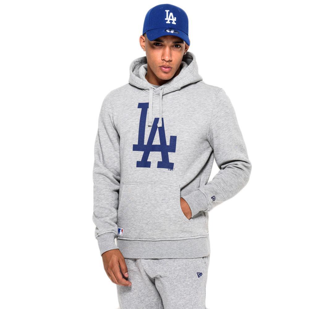 08c11ec159f New era LA Dodgers Pullover Sudadera Gris, Dressinn
