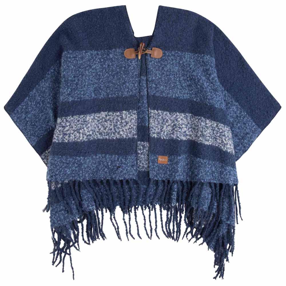 pas cher mode designer pourtant pas vulgaire Pepe jeans Claude Poncho Bleu acheter et offres sur Dressinn