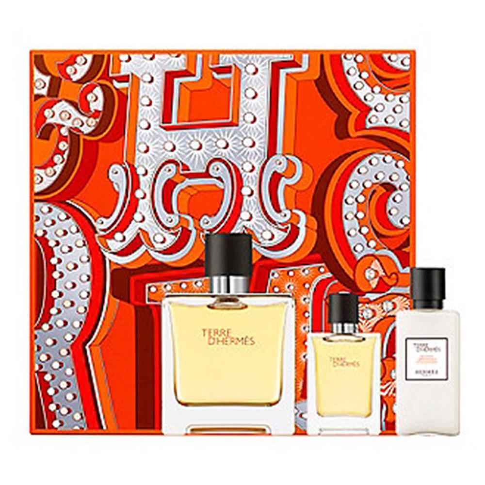 Hermes Paris Fragrances Terre Dhermes Pure Parfum 75ml Vapo After D Eau Tres Fraiche For Men Edt 125ml Shave Balm 40ml