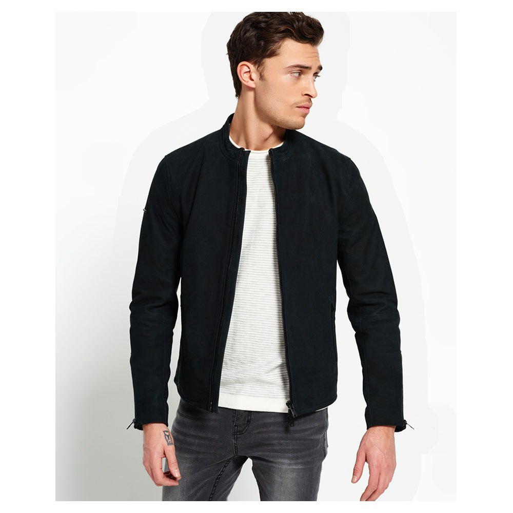 08e8a5baf895 Superdry Slim Nubuck Harrington Μαύρο