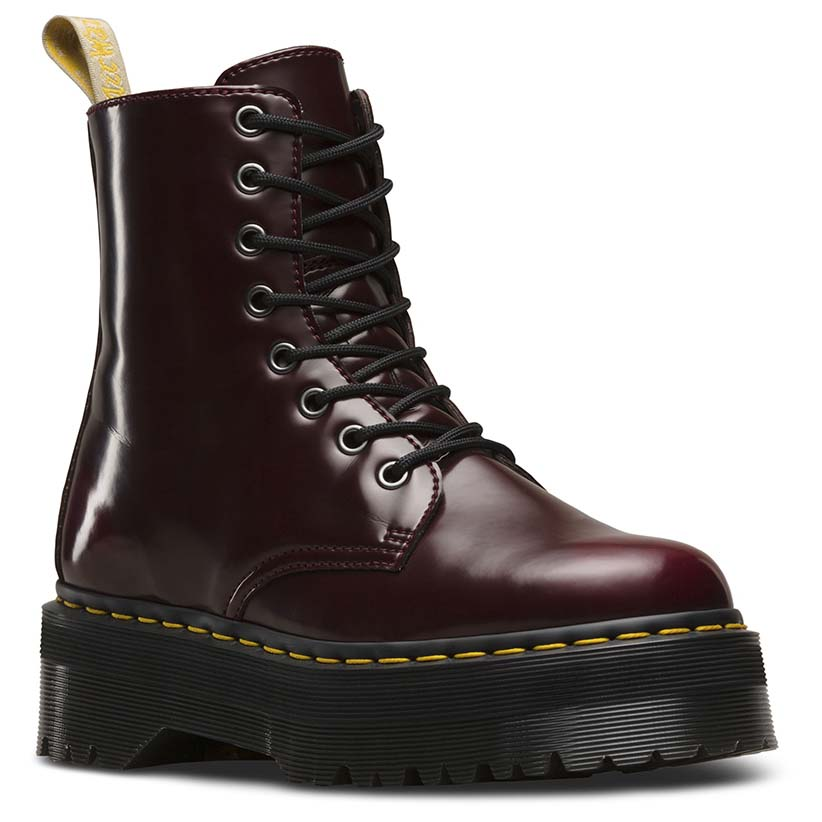 c509add51b2 Dr martens Jadon 8 Eye Vegan Cambridge Brush Red