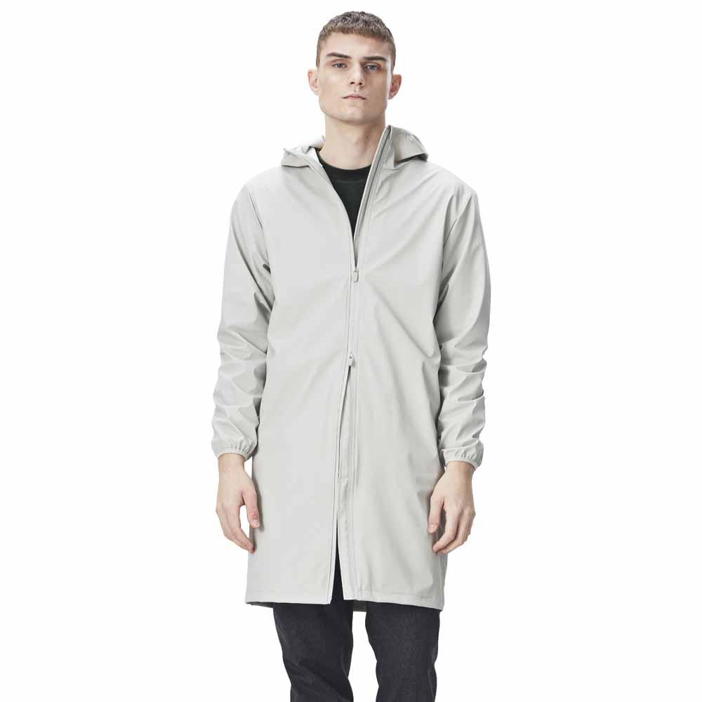 0c25a5d2 Rains Base Jacket Long Hvid køb og tilbud, Dressinn