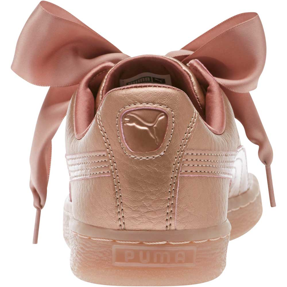 the best attitude e70ab ca2c0 Puma Basket Heart Copper Pink buy and offers on Dressinn