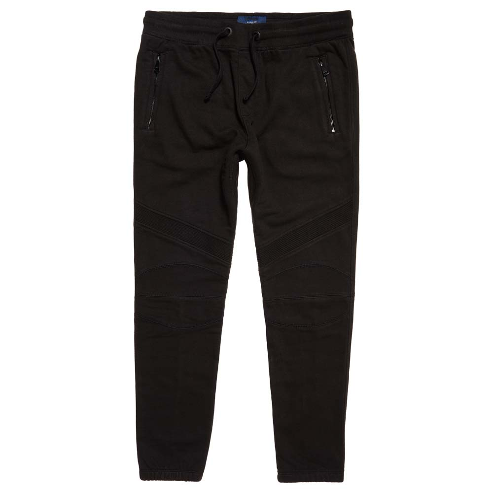 c57de9814 Superdry Ie Biker Jogger Black buy and offers on Dressinn