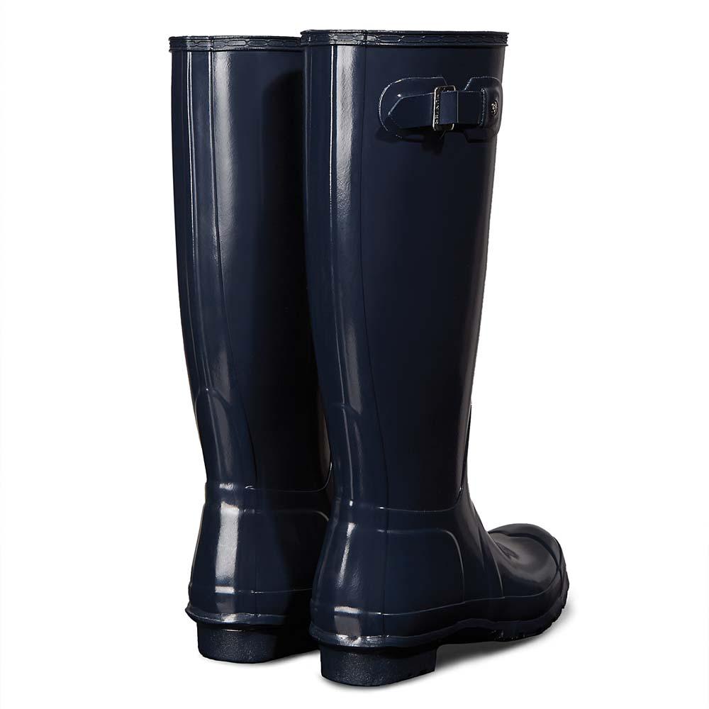 Hunter Original Tall Gloss Rain Blauw, Dressinn