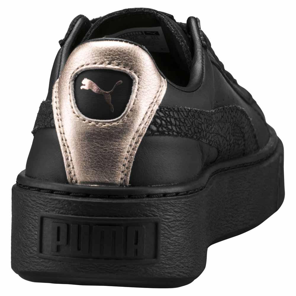 puma basket platform euphoria svart