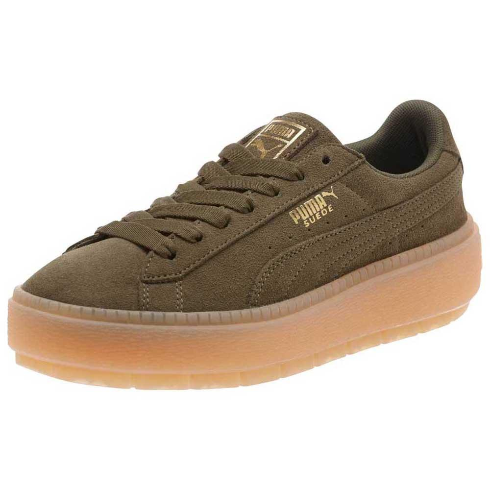 b9619a7ee343 Suede Platform Trace Olive Night