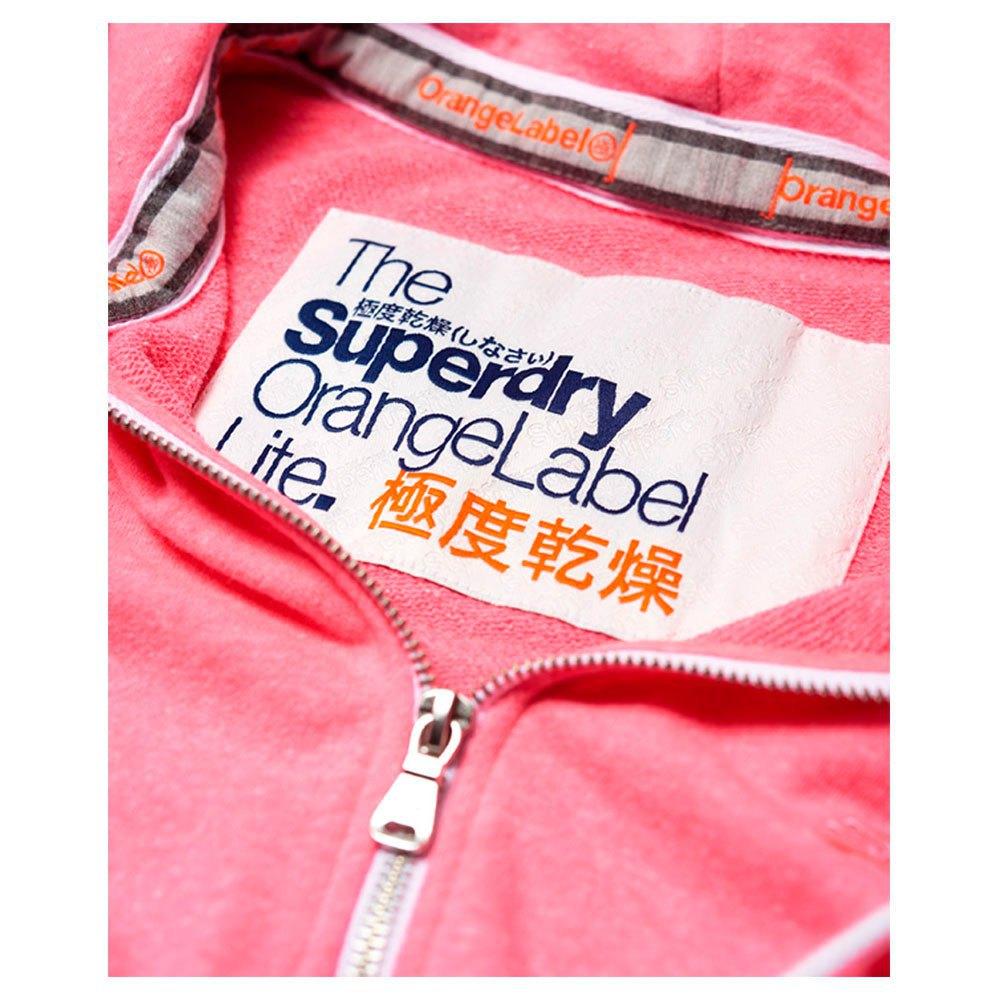 Superdry Orange Label Lite Zip Hoodie Rose, Dressinn