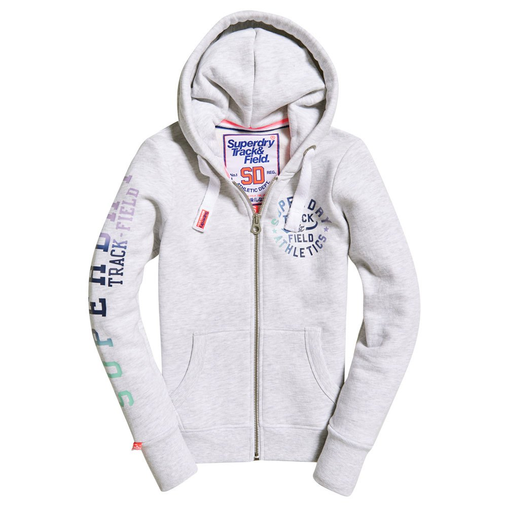 903e30e7 Superdry Track & Field Ziphood White buy and offers on Dressinn
