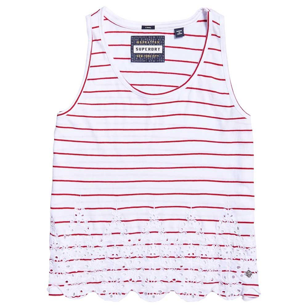 Superdry Pacific Broderie Stripe Tank