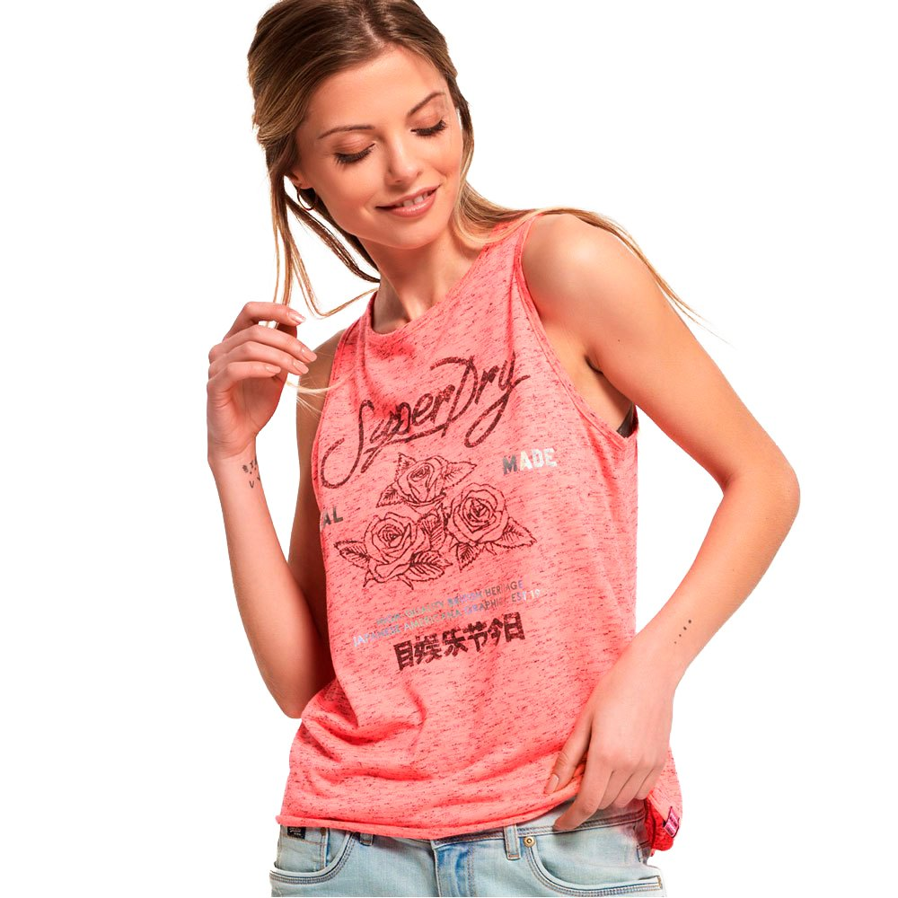1ab9364f Superdry Skater Knot Back Tank Pink buy and offers on Dressinn