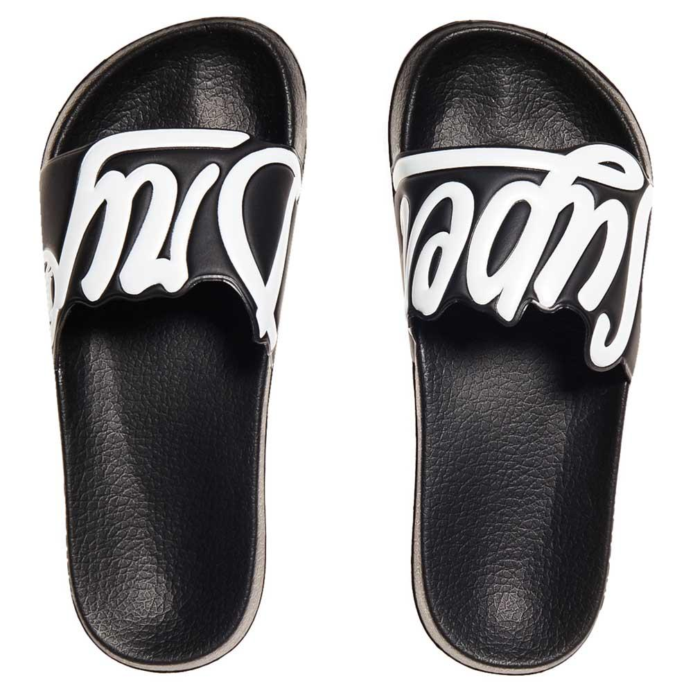 553a83865 Superdry Cut Out Pool Slide Black buy and offers on Dressinn