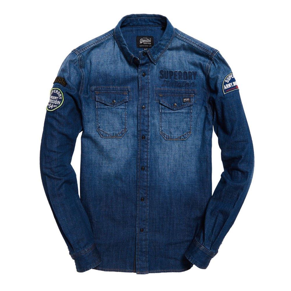 68b683fe01 Superdry Dragway Patch Denim Azul comprar y ofertas en Dressinn