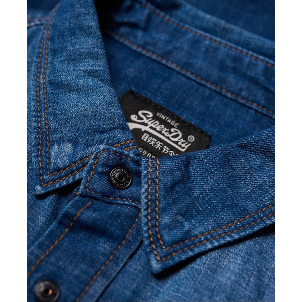97cb331ba9e8 Superdry Dragway Patch Denim Blue buy and offers on Dressinn