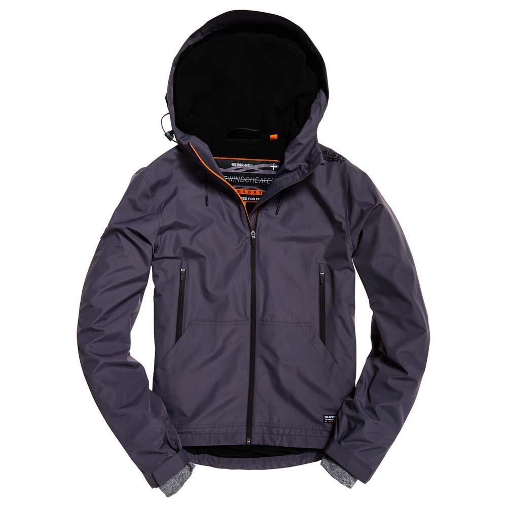 Superdry Hooded Elite Windcheater Jacket Black