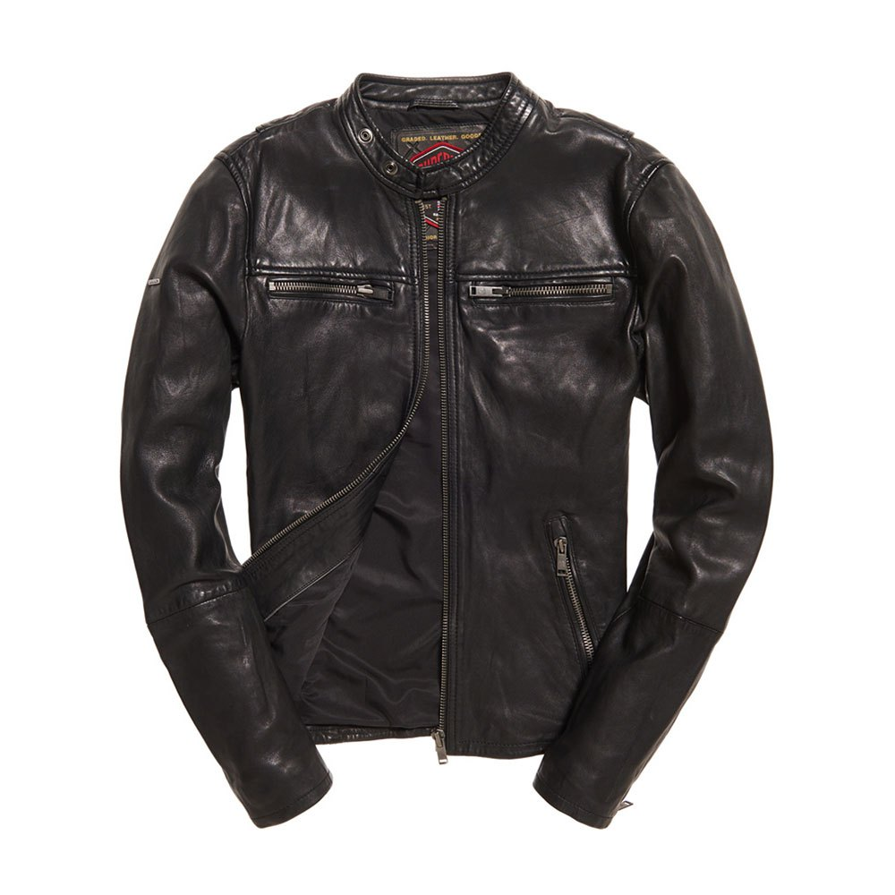 0e919dab8 Superdry Real Hero Leather Biker
