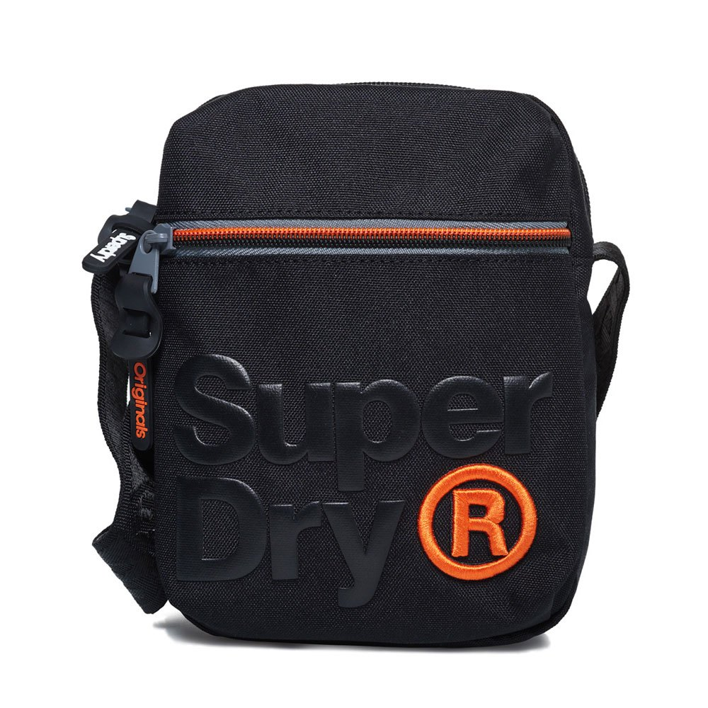 66b983721d Superdry Lineman Perf Sidebag Black buy and offers on Dressinn