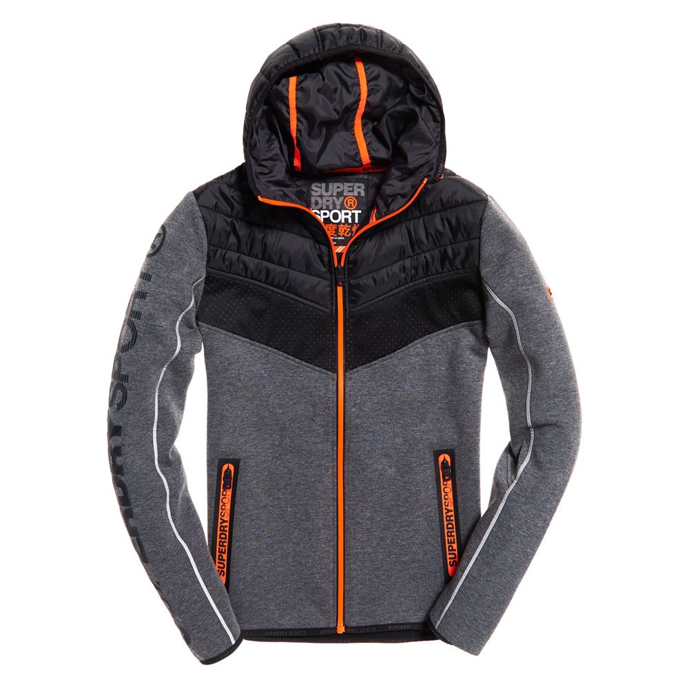 50ae7f445105 Superdry Gym Tech Chevron Hybrid Schwarz, Dressinn