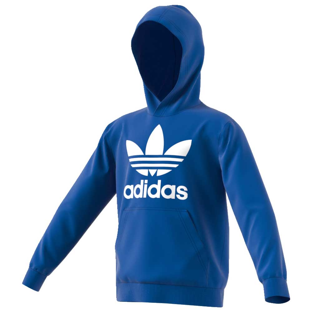 adidas originals Trefoil Hoodie Blue buy and offers on Dressinn