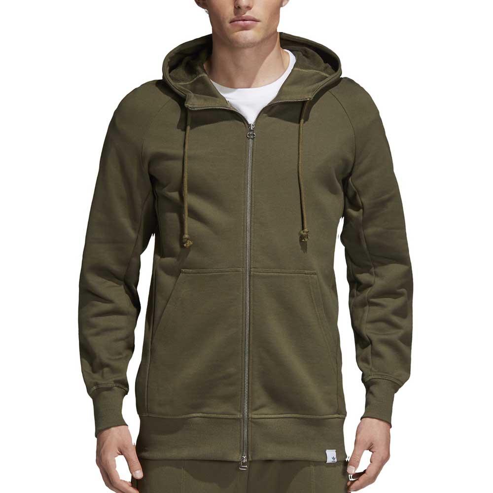 adidas Originals Men's Trefoil Full Zip Fleece Hoodie