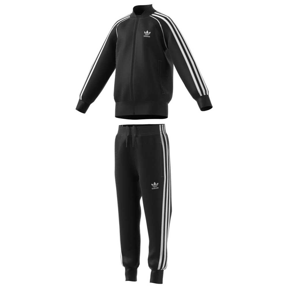 b02d2f8393c adidas originals Trefoil SST Tracksuit Black, Dressinn