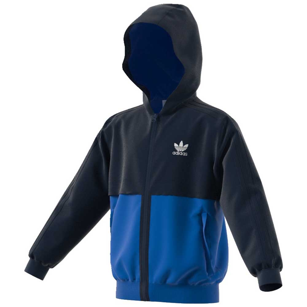 adidas originals Zip Hoodie Blue buy and offers on Dressinn 068707c41