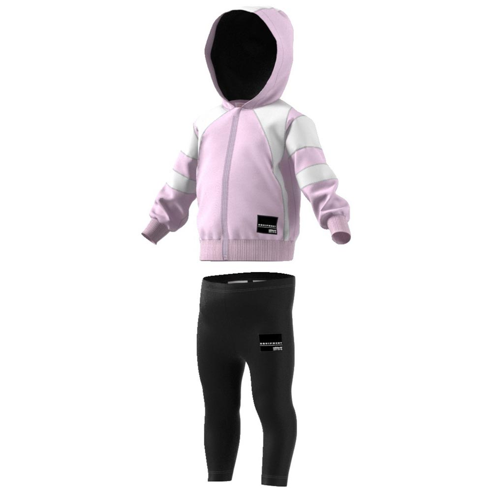 adidas originals Eqt Fleece Hoodie Tracksuit Pink, Dressinn