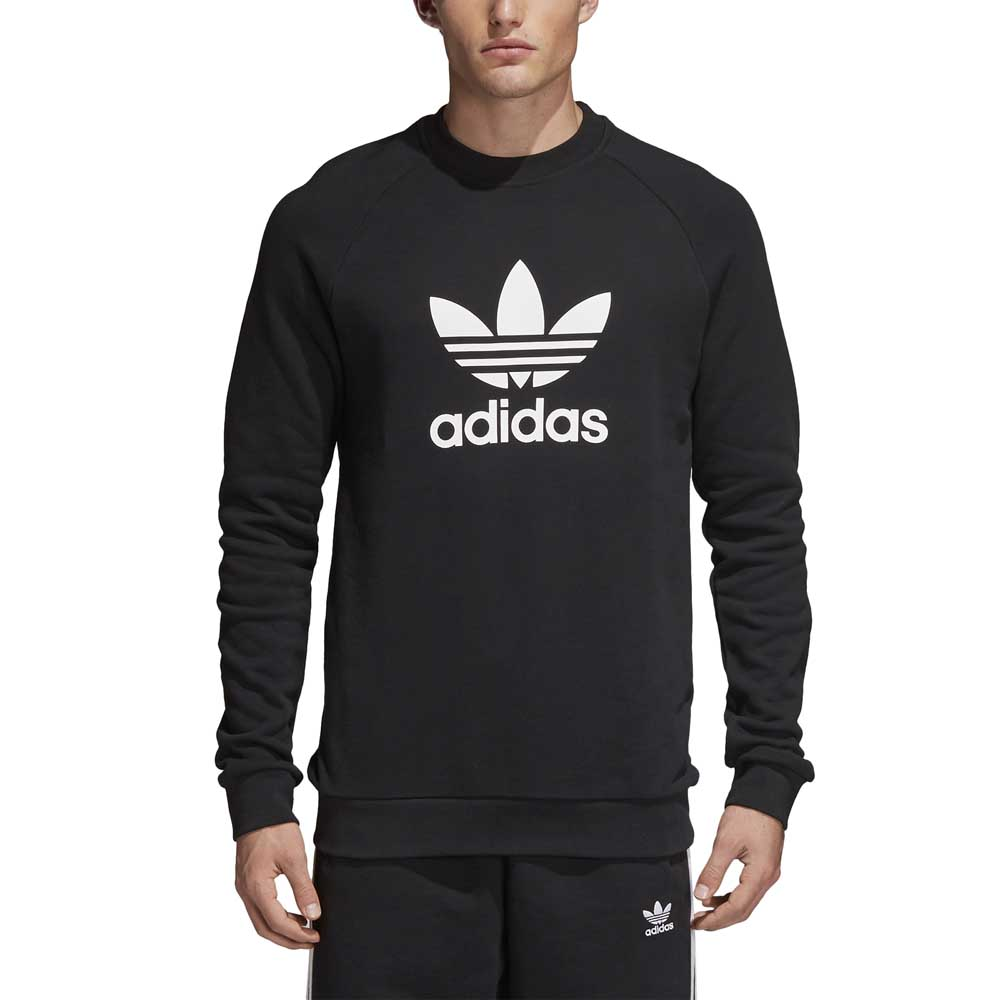 14999baf8951 adidas originals Trefoil Warm Up Crew Black