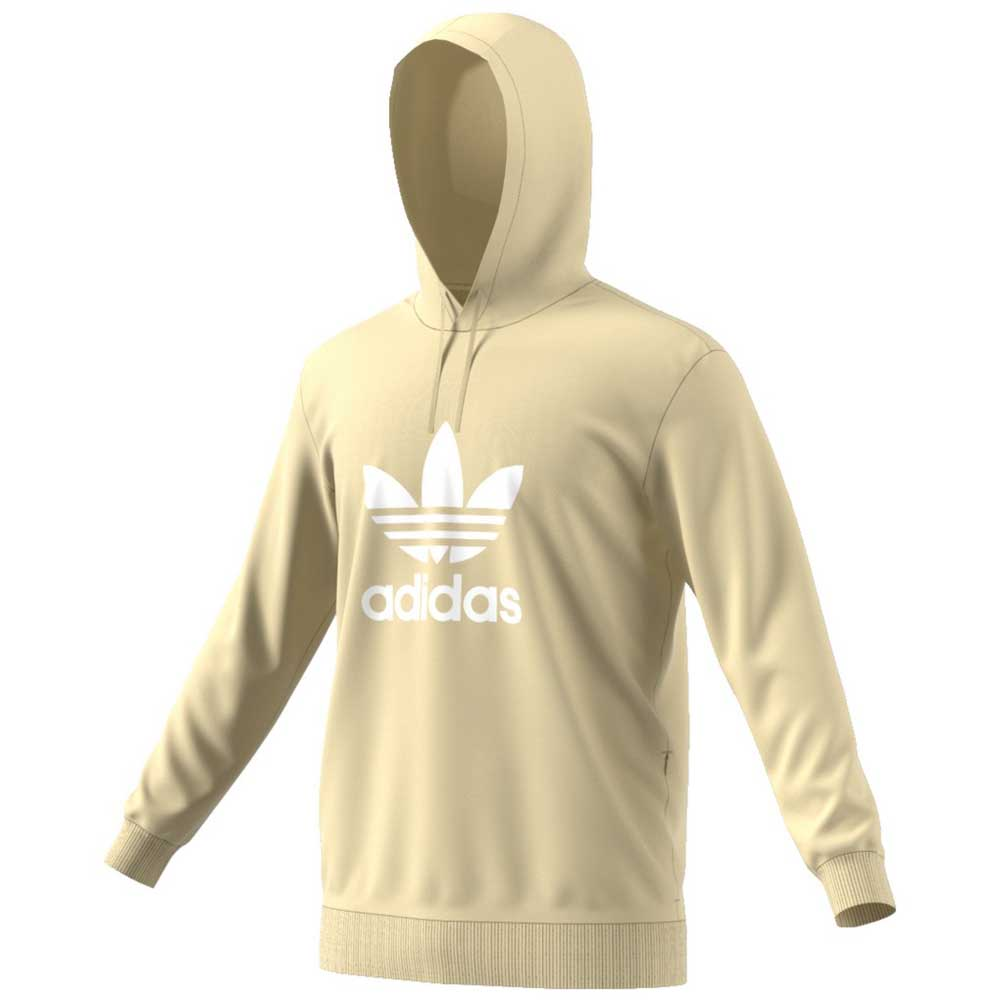 adidas originals Trefoil Warm Up Hoodie Beige, Dressinn