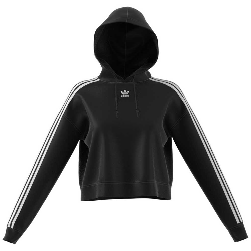 69077e44054 adidas originals Cropped Hoodie Black buy and offers on Dressinn