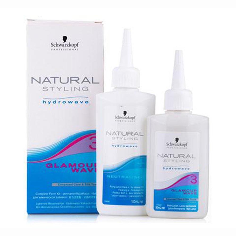 Schwarzkopf fragrances Hydrowave Natural Styling 3 Clamour Wave Kit Lotion 80ml+Fixing Lotion 100ml