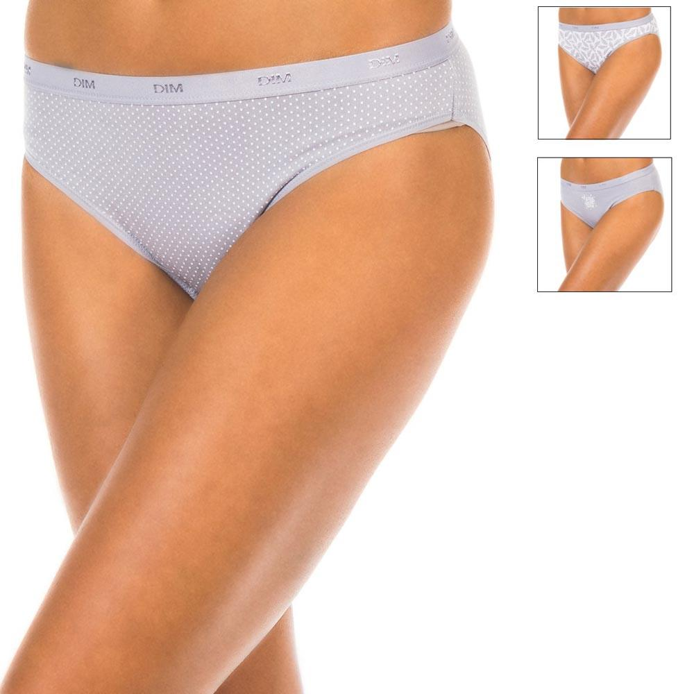 Dim paris Slip Cotton Stretch Panties Pack 3 Units
