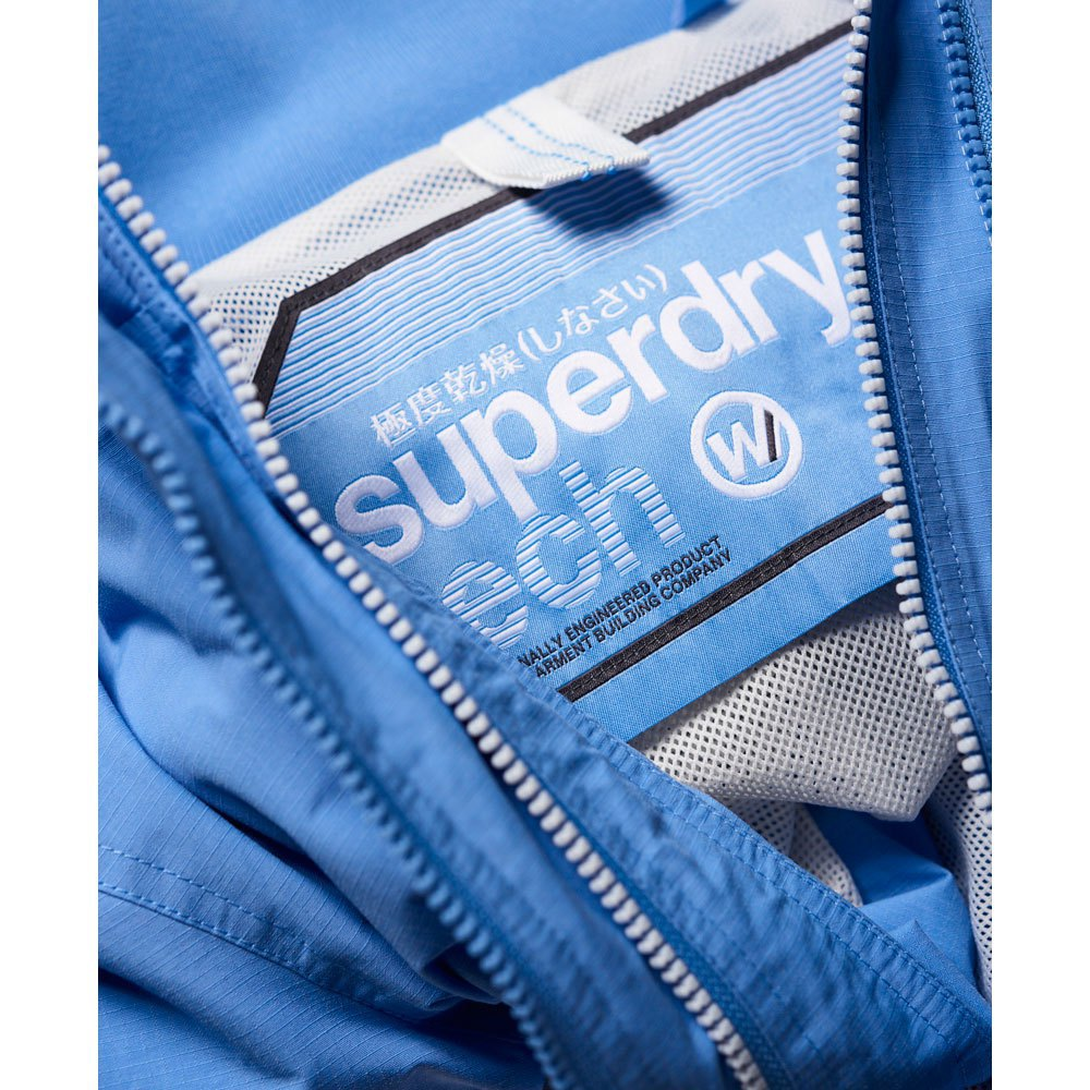 Superdry Womens Prism Technical Pop Zip Windtr Cape Clothing