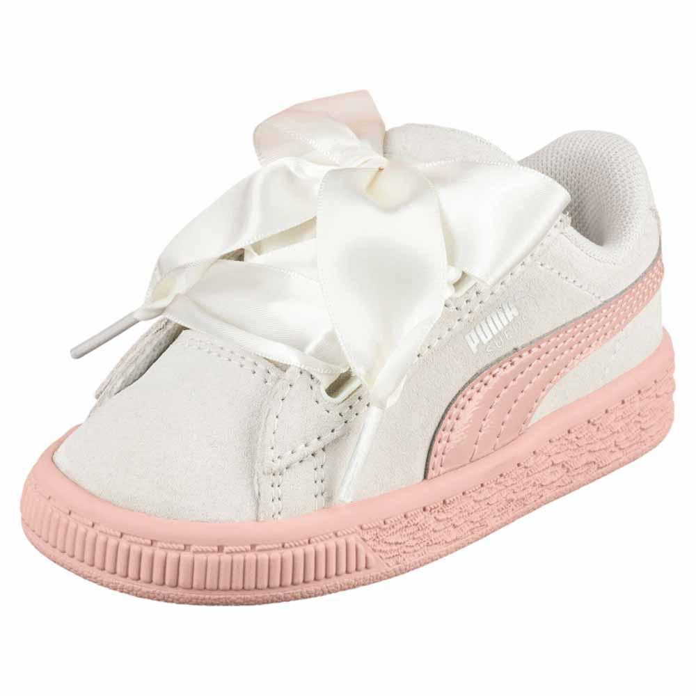 puma basket heart infant white