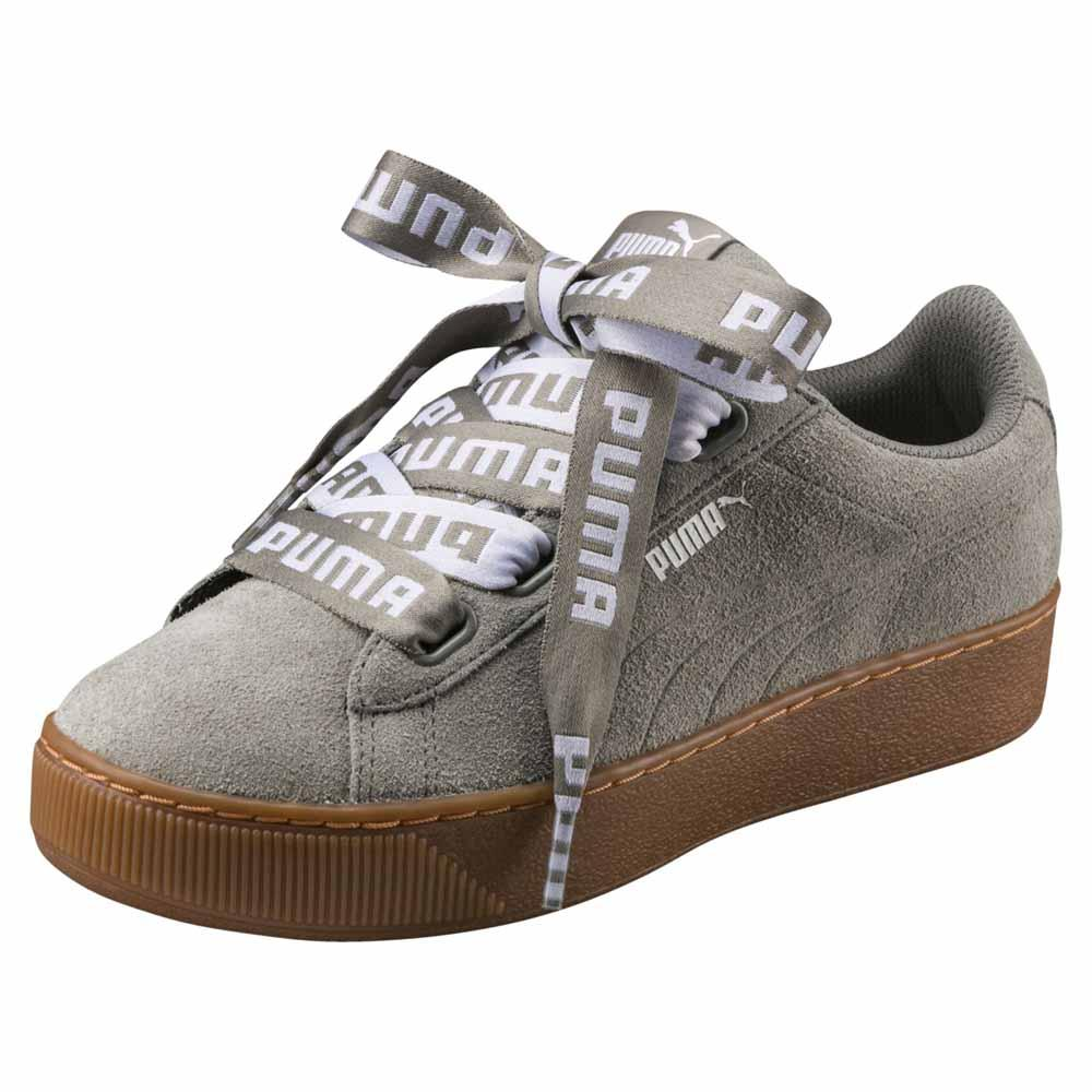 2cb268eee5c Puma Vikky Platform Ribbon Bold Grey buy and offers on Dressinn
