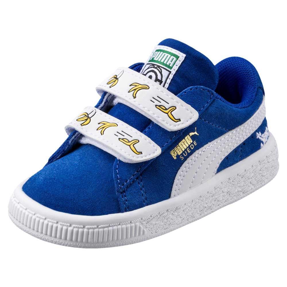 0bd92c045d4 Puma select Minions Suede Velcro Infant Blue