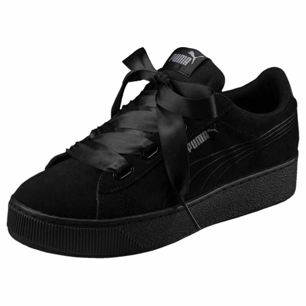 Puma Vikky Platform Ribbon S Black buy and offers on Dressinn 4db5b0029