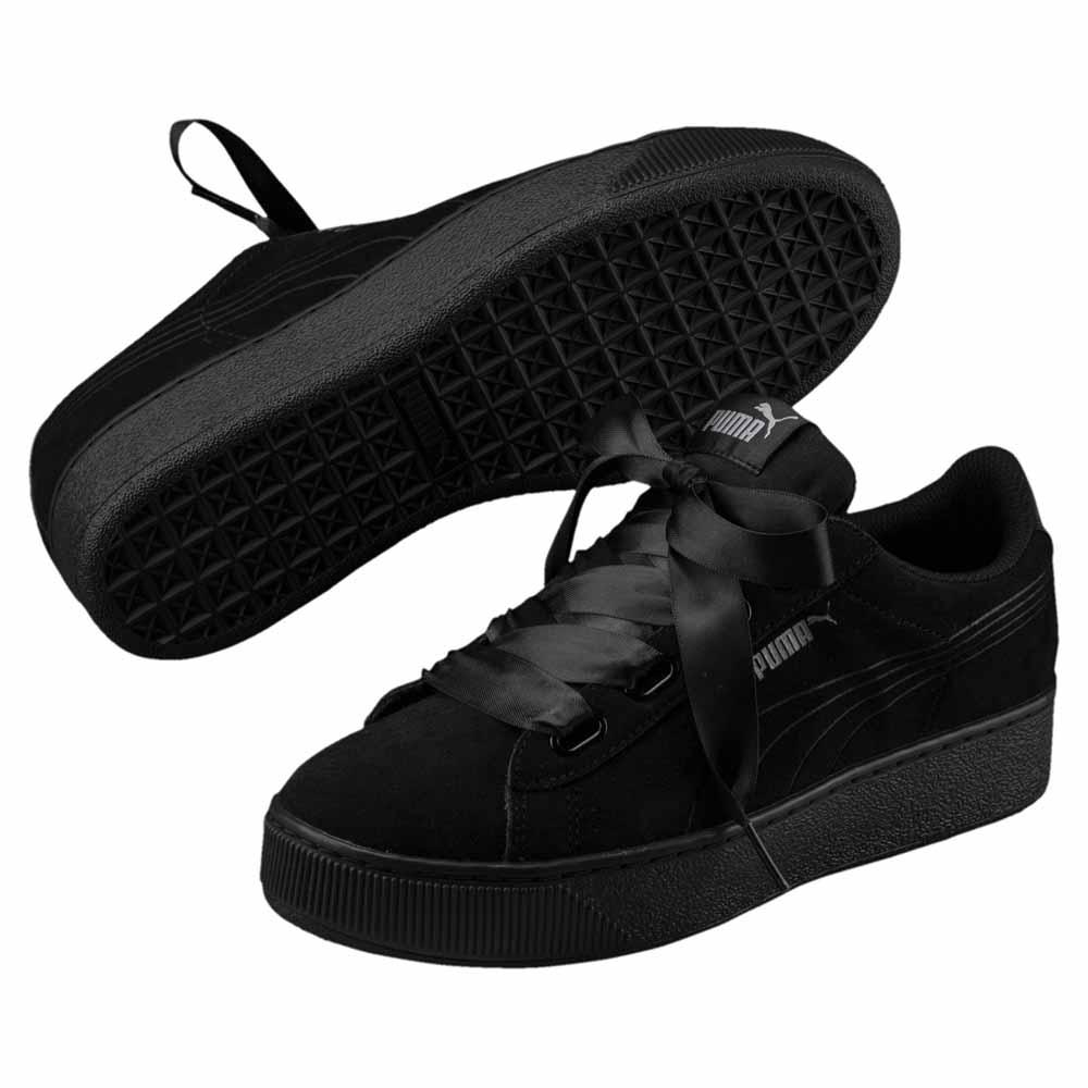 fde718a316f5 Puma Vikky Platform Ribbon S Black buy and offers on Dressinn
