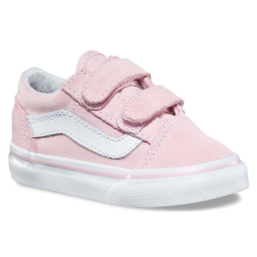 vans rosa e bianche