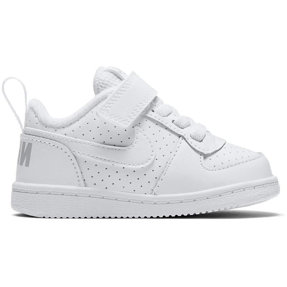 nike court borough low white sneakers