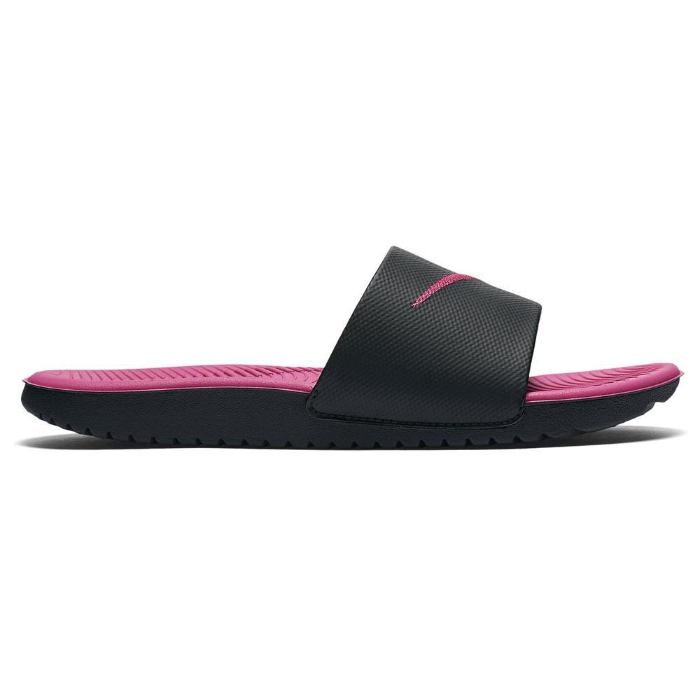 newest 36282 c3579 Nike Kawa Slide Girl GS PS Black buy and offers on Dressinn