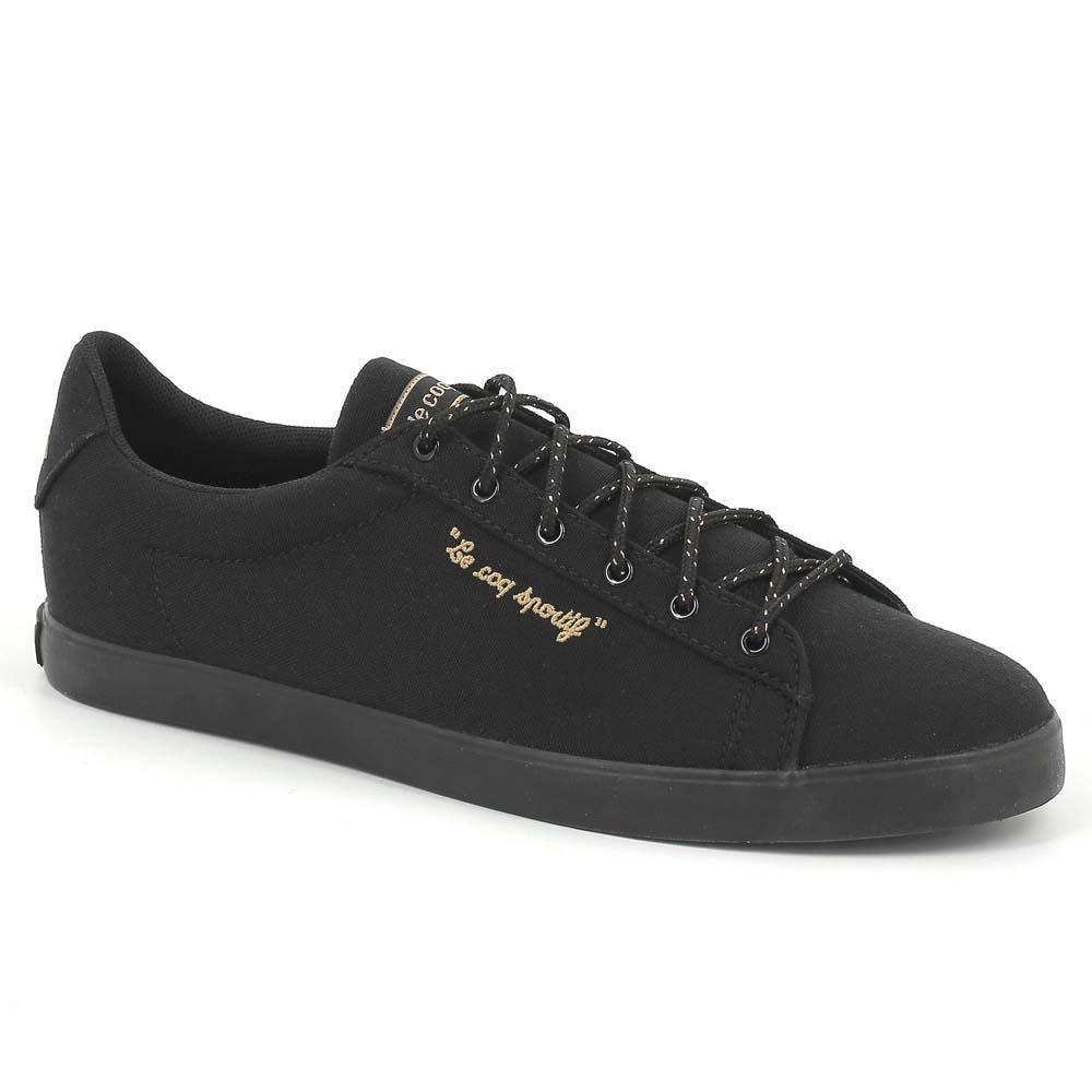 Le COQ Sportif Agate LO CVS/Metallic, Zapatillas Para Mujer, Negro (Black/Black), 37 EU