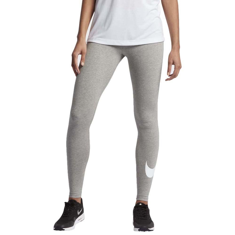 Nike Damen Club Logo Leggings Fitness Trainings Hose Pant grau